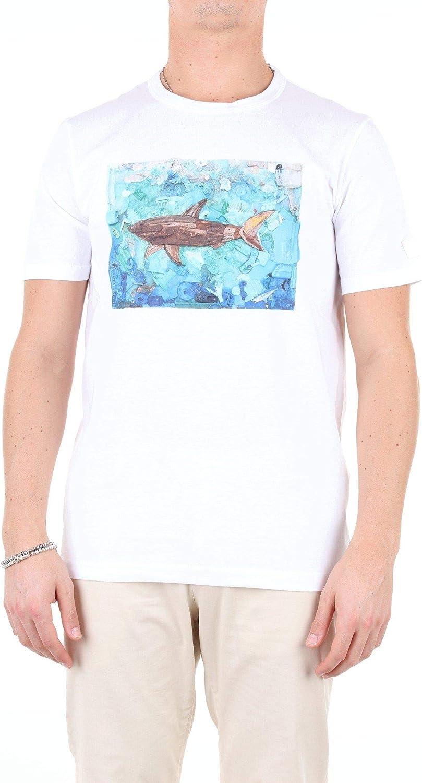 PAUL & SHARK Luxury Fashion Man E19P1171WHITE White Cotton T-Shirt   Season Outlet