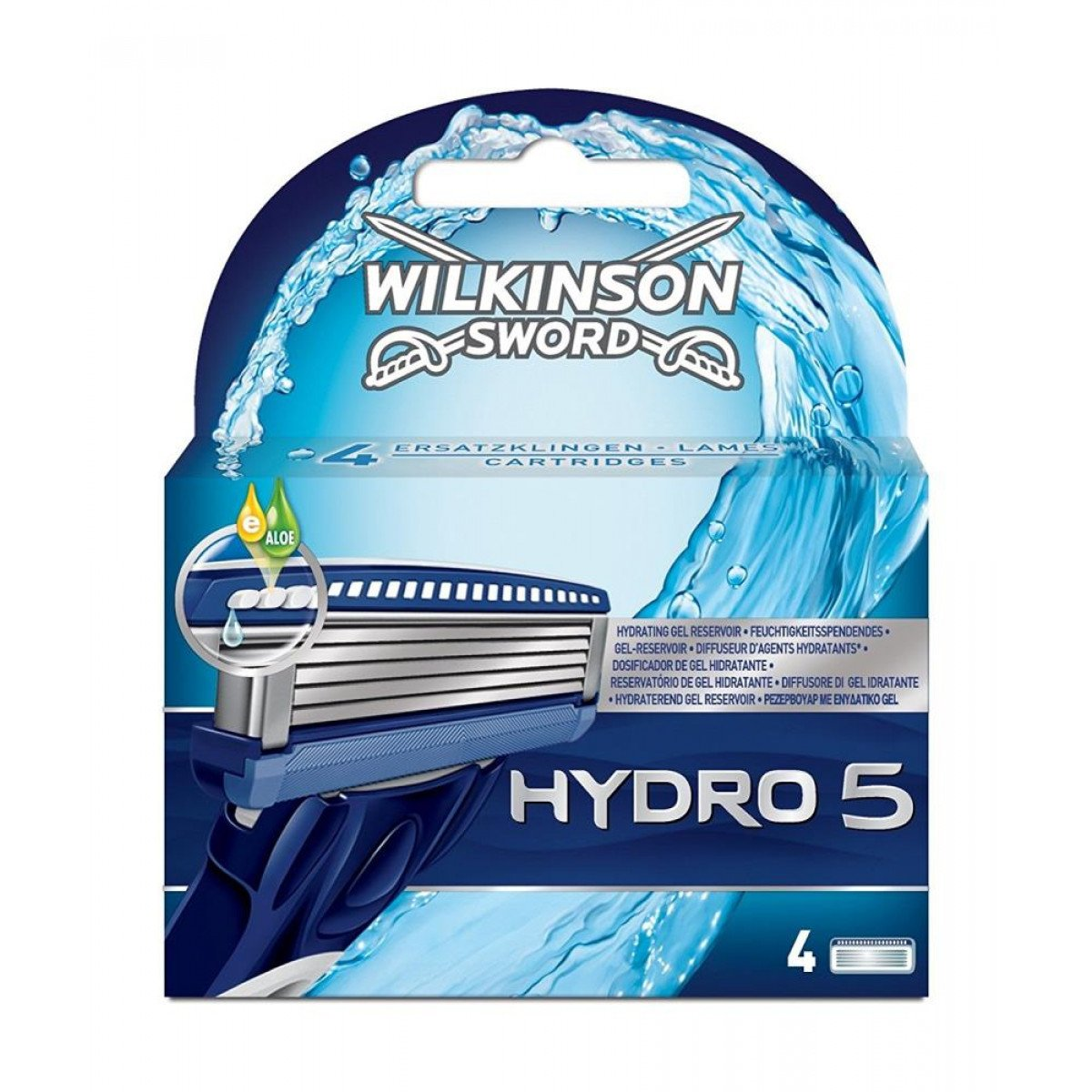 Wilkinson Sword Hydro 5 Blades Refill (Pack of 4) HealthCentre 70000220