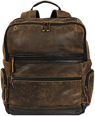 Wilsons Leather Mens Landon Crackle Leather Backpack 787f426a1bffb
