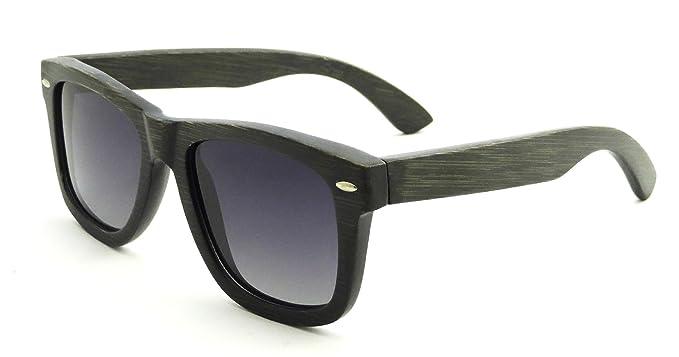 Amazon.com: SHINU Marco de bambú anteojos de sol polarizadas ...