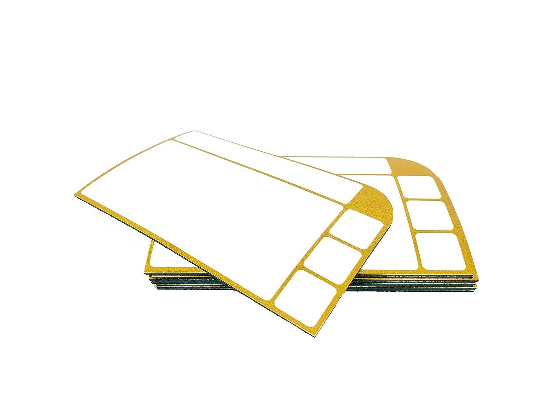 SMILEYBOARD Kanban y otros 10 unidades Tarjetas de notas magn/éticas y lavables para pizarras Scrum Board color rojo