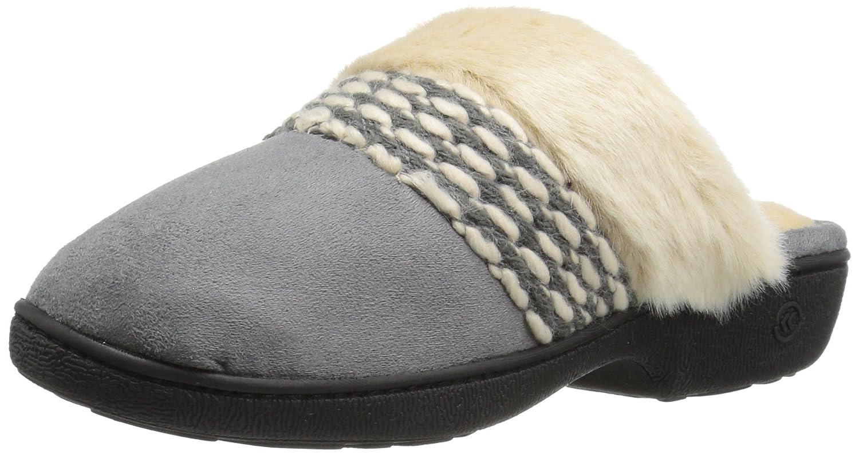 Isotoner Women's Erica Microsuede Clog Slippers