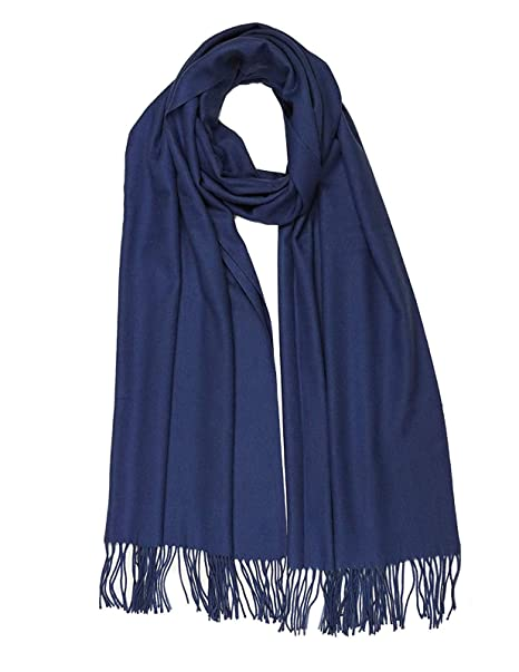 5332d1e6c4645 Image Unavailable. Image not available for. Colour: Ladies Navy Blue Shawls  Scarf ...