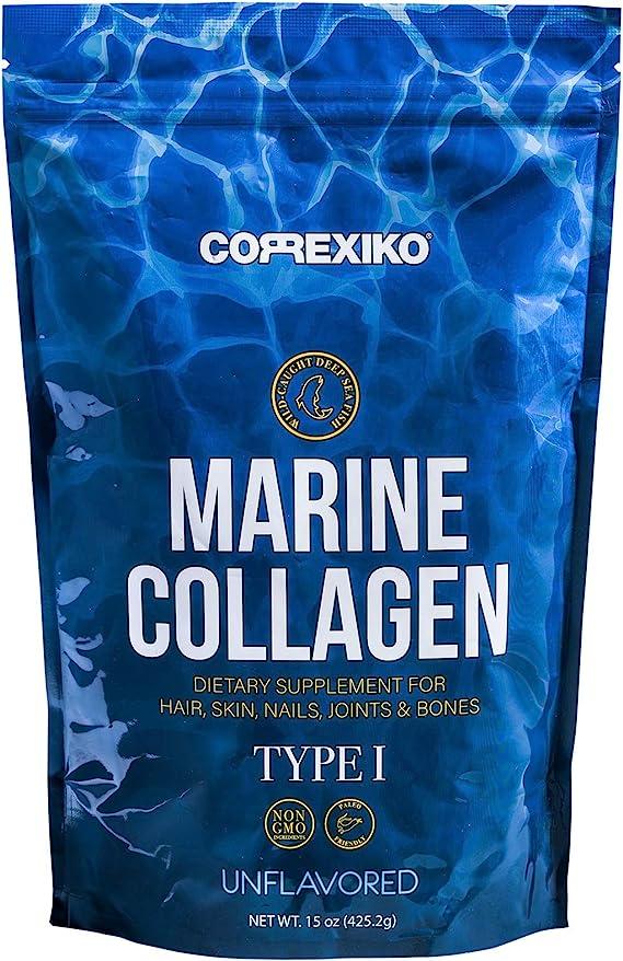 Péptidos Colágeno Marino de Peces Salvajes del Atlántico Norte (No de Acuicultura) – Pack Grande (425gr) – Proteína de Colágeno en Polvo para ...