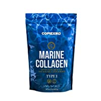 Marine Collagen Peptides Powder by Correxiko   Hydrolyzed Collagen Supplement for Joints, Skin, Hair, Nails and Digestion   Made in Canada from Wild-Caught Deep Sea Fish (15 oz)