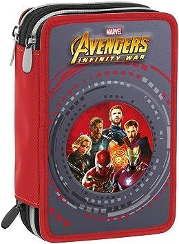 Estuche 3 Cremalleras Marvel Avengers Infinity War , Rojo Multicolor , Pisos con Contenido: Lápices, Rotuladores ...: Amazon.es: Equipaje