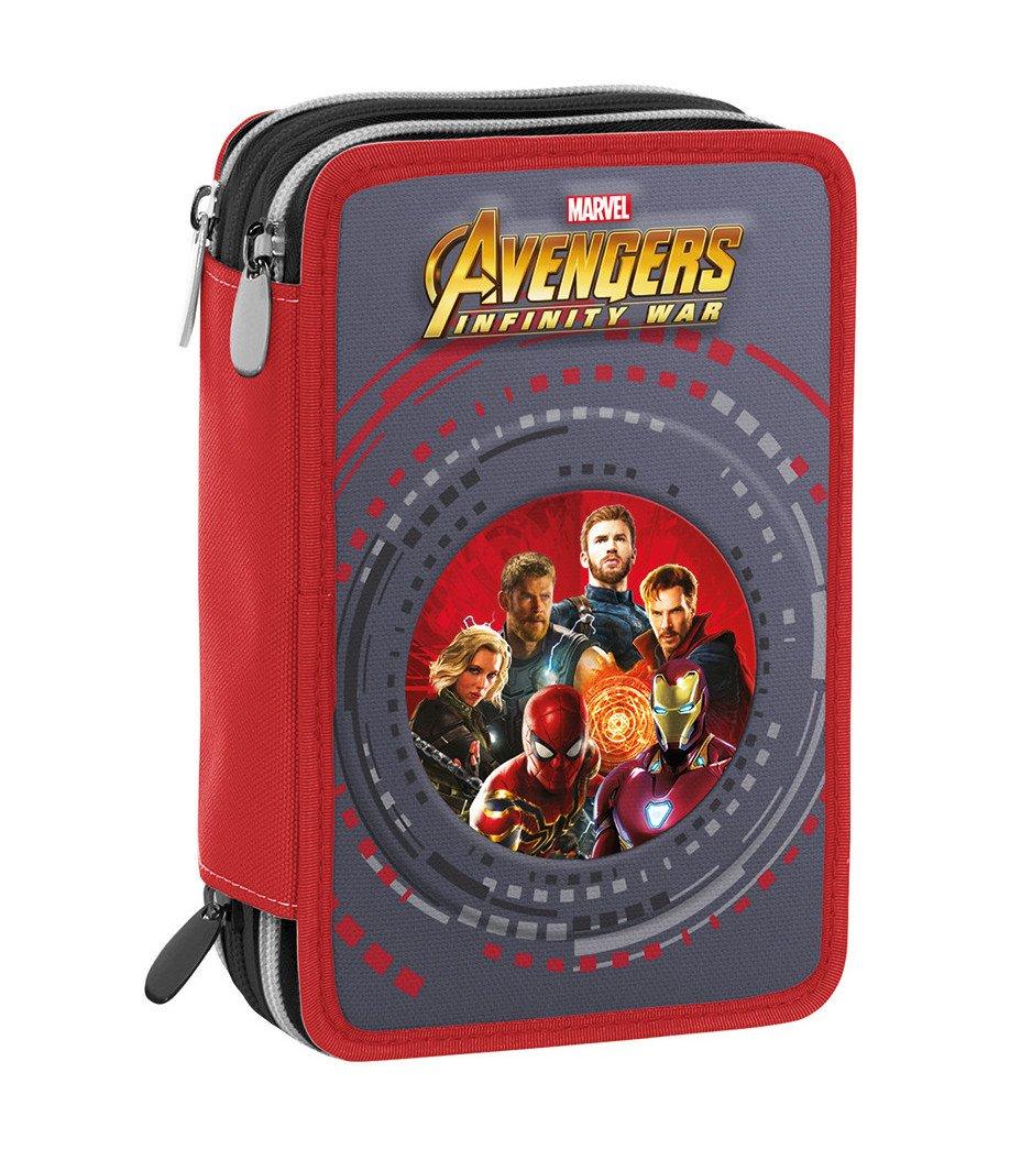 Estuche 3 Cremalleras Marvel Avengers Infinity War , Rojo ...