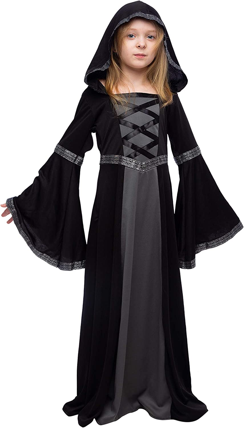 Spooktacular Creations Hooded Robe Costume for Girls Halloween Role-Playing Party