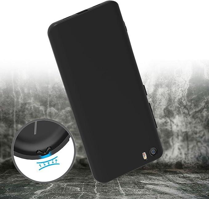 ivoler Funda Carcasa Gel Negro para Xiaomi Mi 5, Ultra Fina 0,33mm ...