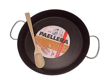 Sartén para paellas Lacor para cocina de inducción, diámetro 40 cm + 1 cuchara gratis: Amazon.es: Jardín