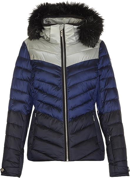 killtec Skijacke Damen Brinley Winterjacke Damen Damenjacke sportlich mit Skipasstasche warme Jacke für den Winter wasserdicht