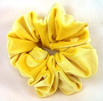 97fd97c8d738 Amazon.com   Yellow Velvet Regular Scrunchy - Generation Z Yellow-Made in  the USA   Beauty