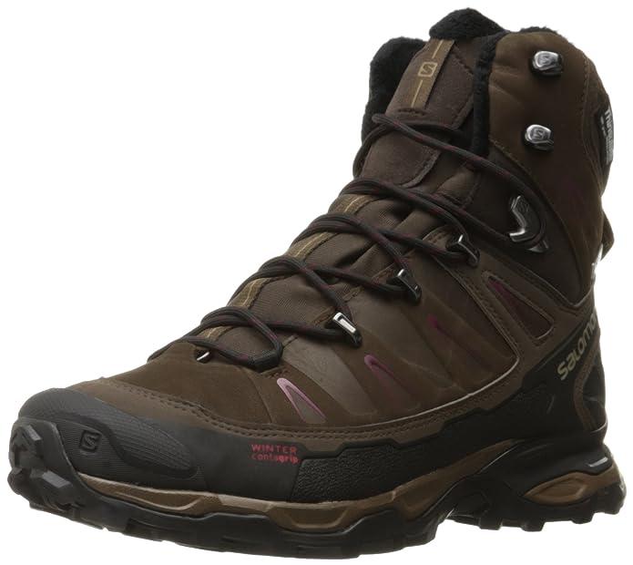 Salomon Damen L39183300 Trekking-& Wanderstiefel, Braun (Absolute Brown-X/Brown Black/Bordea Absolute Brown-X/Brown Black/Bordea), 42 2/3 EU
