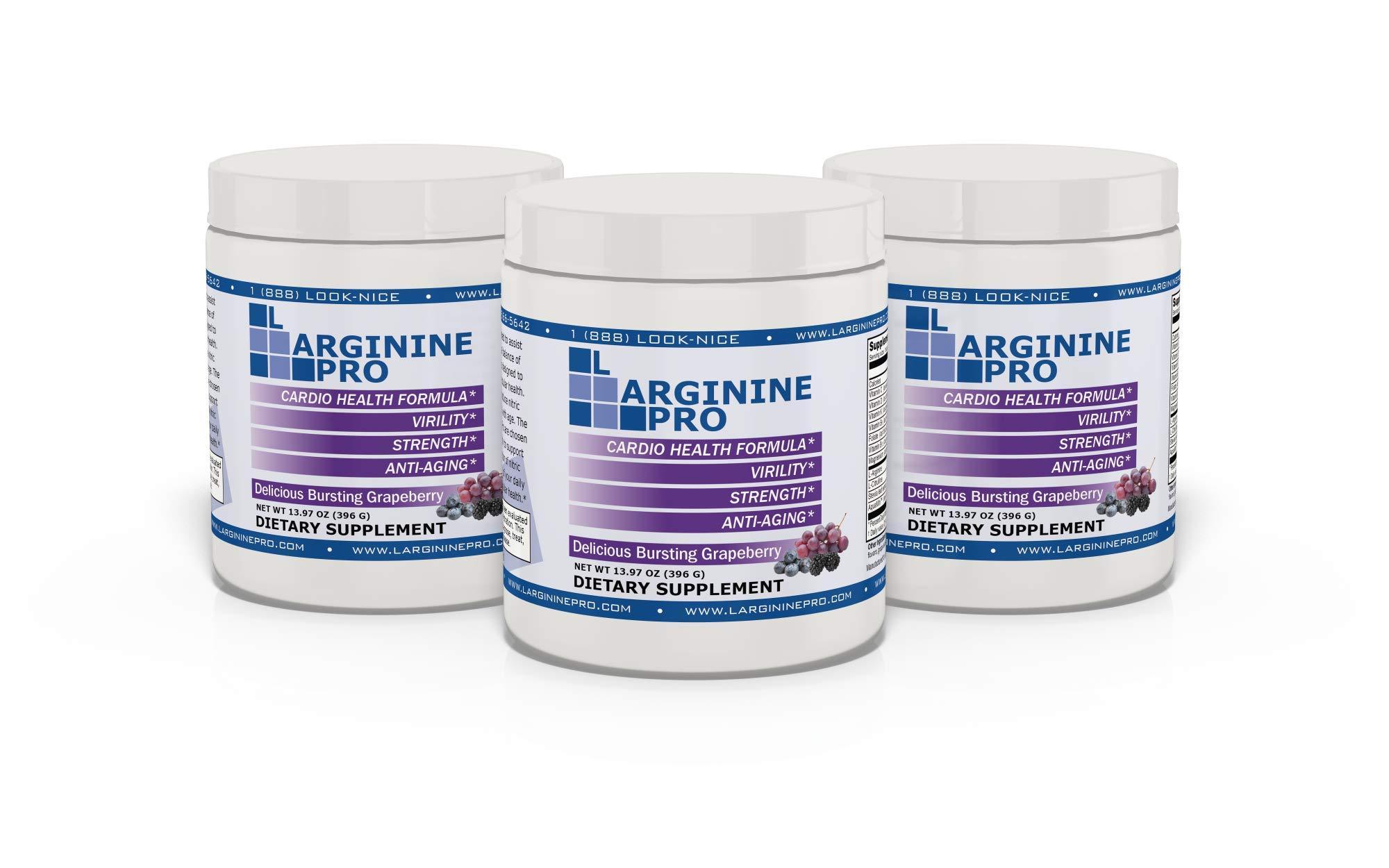 L-arginine Pro, #1 NOW L-arginine Supplement - 5,500mg of L-arginine PLUS 1,100mg L-Citrulline + Vitamins & Minerals for Cardio Health, Blood Pressure, Cholesterol, Energy, Sleep, 13.97 oz by L-arginine Pro