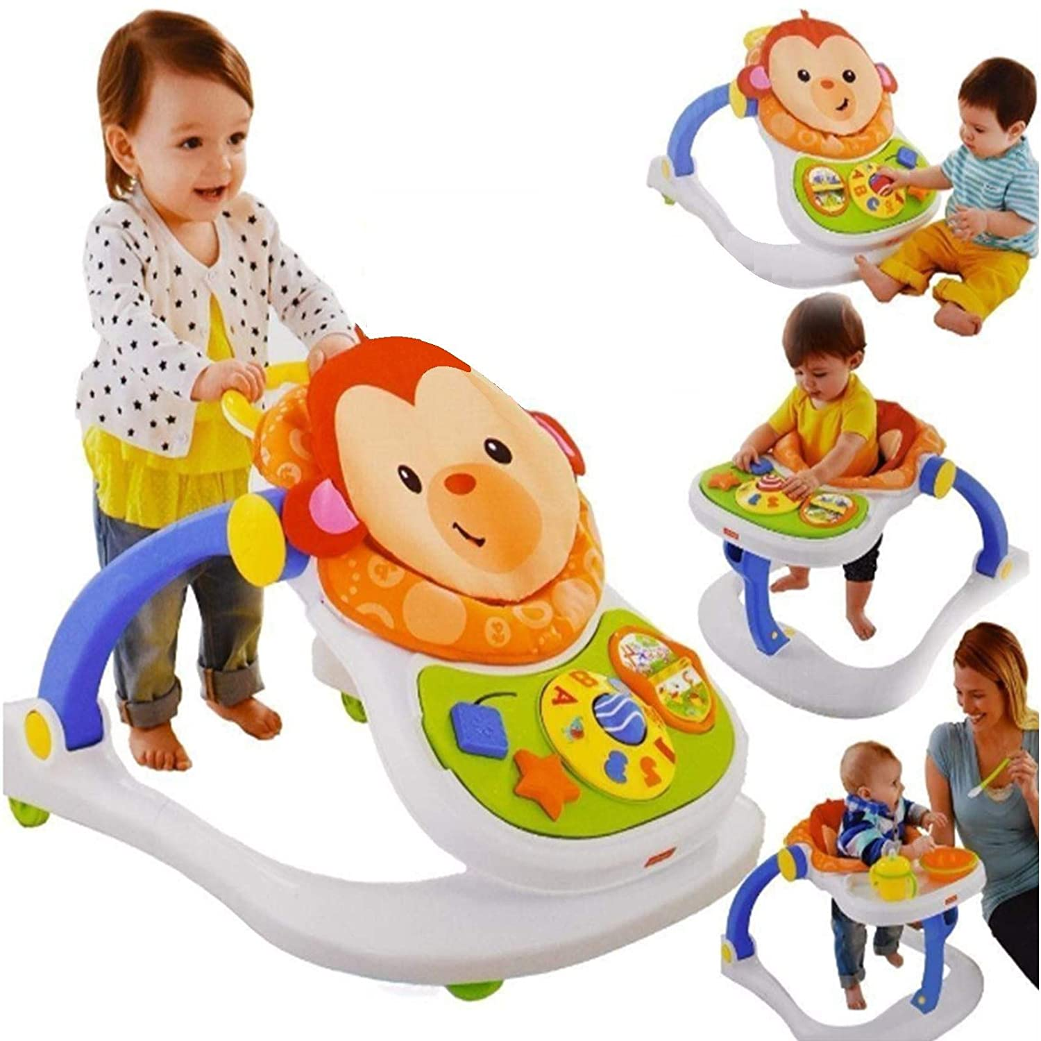 Fisher Price Monkey Entertainer - Silla de juguete para bebé ...