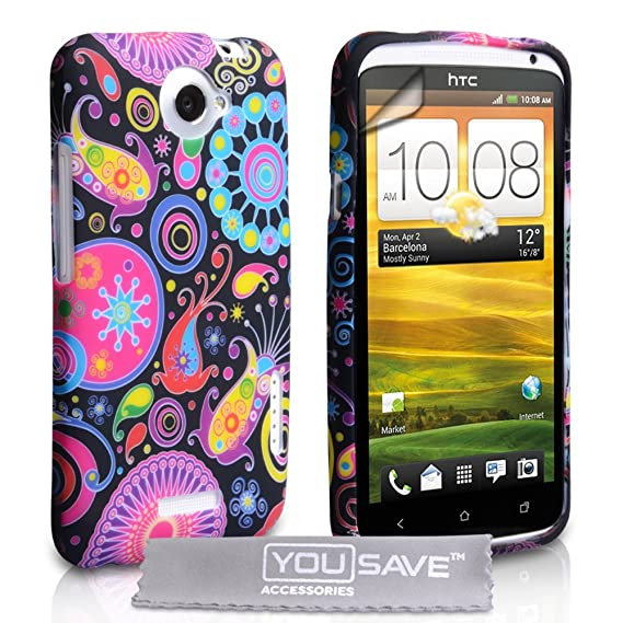 watch 4c114 7fbfe Yousave Accessories HTC One X Case Jellyfish Pattern Silicone Cover With  Screen Protector