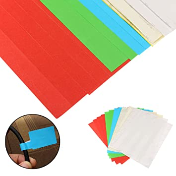 8090fb244a39 Generic 10 Sheets A4 Self-Adhesive Cable Labels Identification Markers Tags  Stick -300 Pieces: Amazon.in: Home & Kitchen