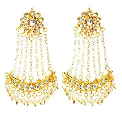 Buy Fashionography Gold Metal Jhoomar Dangle & Drop Earring For