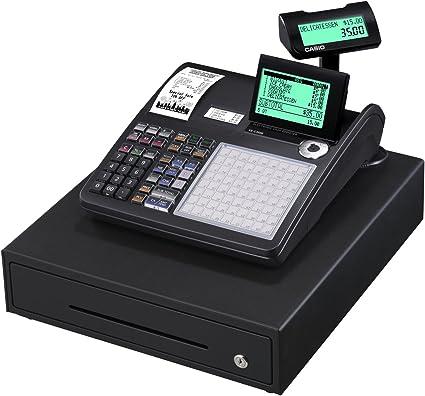 Casio SE-C3500MB-FIS GDPdU a habilitar caja registradora incluyendo licencia de software, tarjeta SD y la batería paquete completo y línea telefónica gratuita, negro: Amazon.es: Oficina y papelería