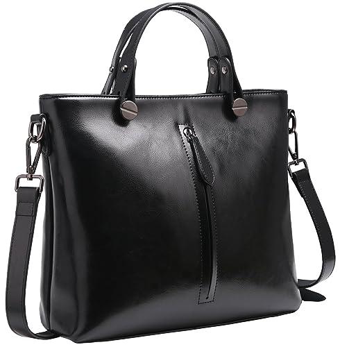 471728e41a8 Heshe Womens Leather Shoulder Handbags Work Totes Top Handle Bag Satchel  Designer Purse Cross Body Bags