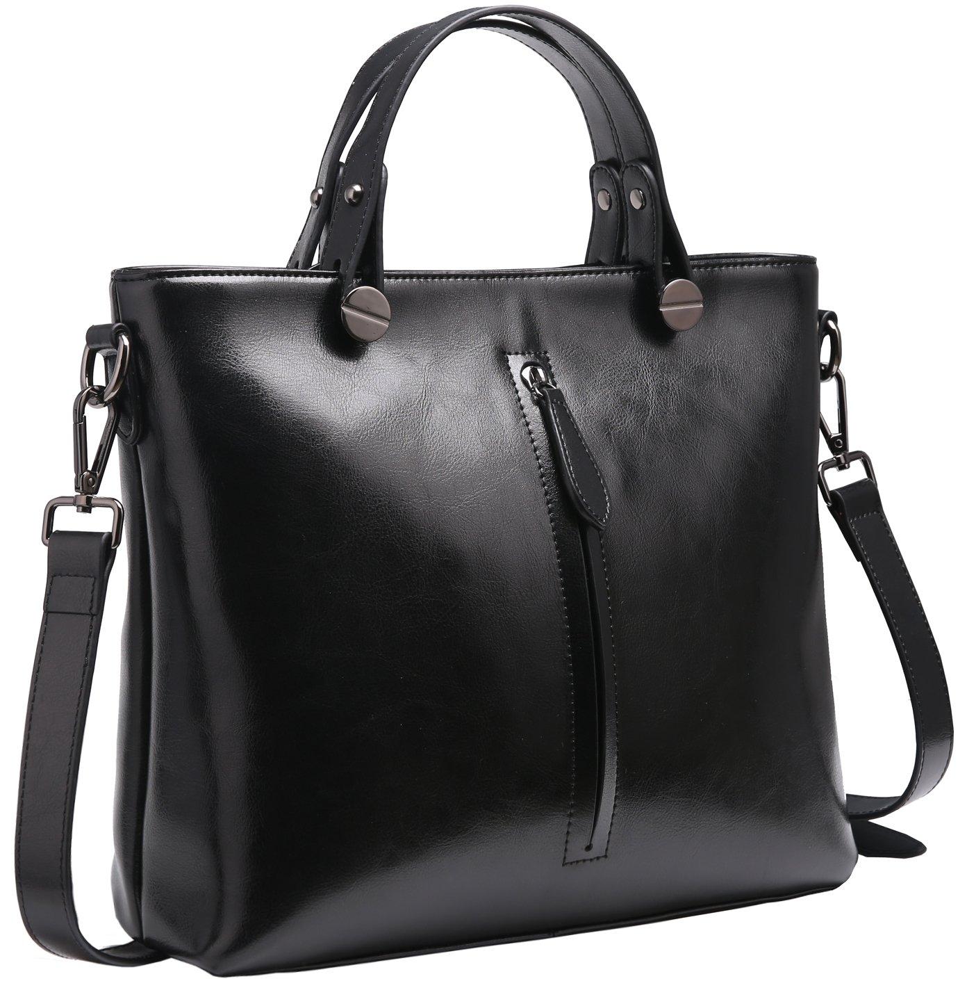 0602df49f092 Heshe Womens Leather Shoulder Handbags Work Totes Top Handle Bag Satchel  Designer Purse Cross Body Bags