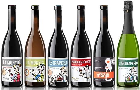 Caja de Vinos nº 1-4 Tintos, 1 Blanco y 1 Cava. D.O: Terra Alta, Catalunya, Somontano y Cava brut selección. (6 x 0,75 L): Amazon.es: Alimentación y bebidas