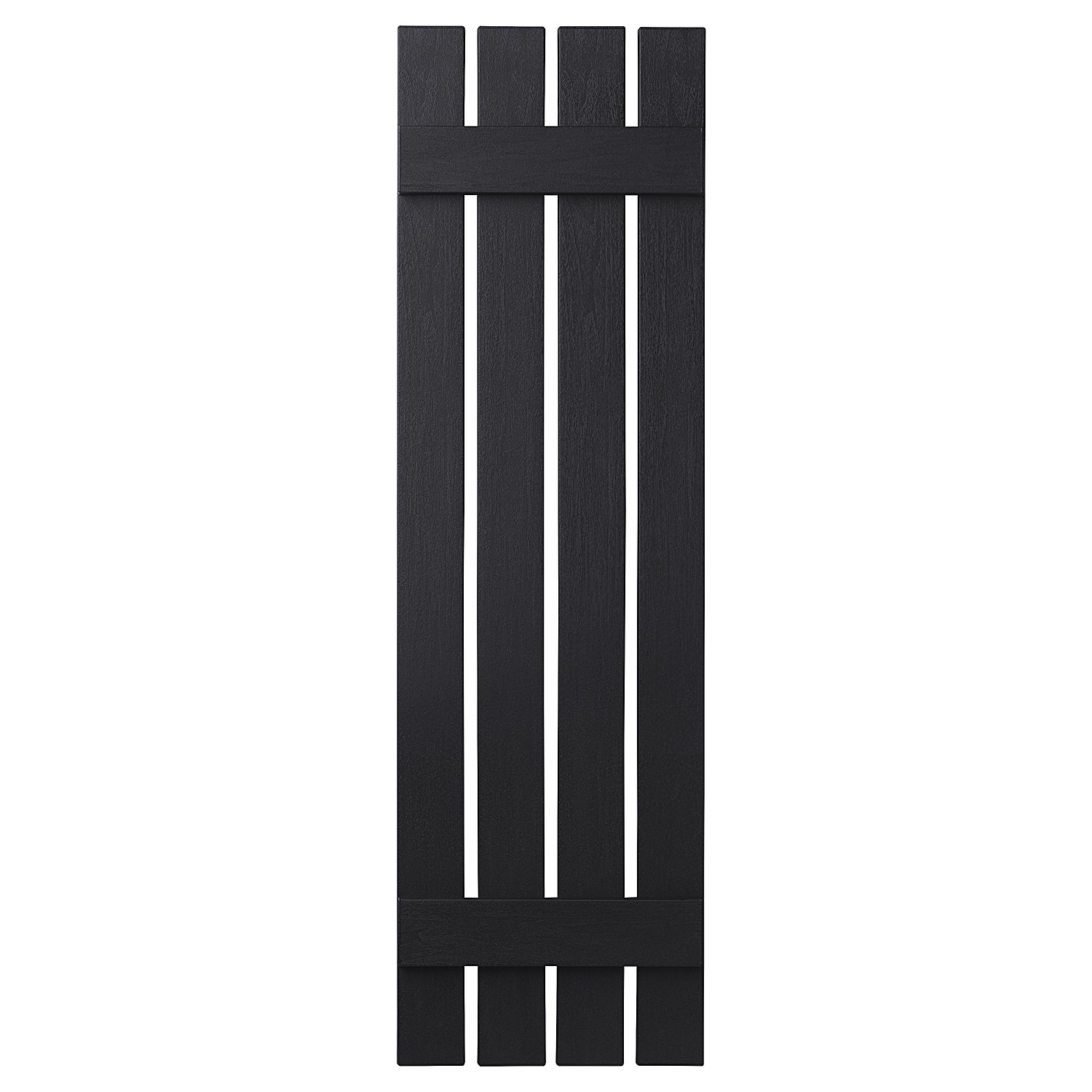 PlyGem Shutters and Accents VIN401651 33 4 Open Board and Batten Shutter, Black by PlyGem Shutters and Accents (Image #1)