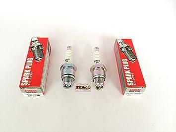 2 x auténtica fabricada en Japón OEM Bujía 94701 - 00160 para Yamaha Outboard NGK B8HS10 25HP - 200HP: Amazon.es: Coche y moto