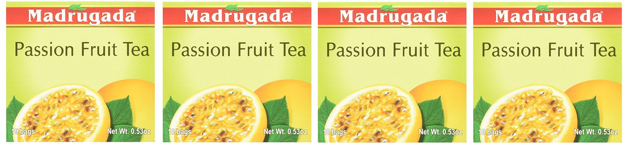 Passion Fruit Tea 10 tea bags - Chá de Maracujá 10 sachês - Madrugada - 0.5oz (15g) GLUTEN FREE - (PACK OF 04) by Madrugada (Image #2)