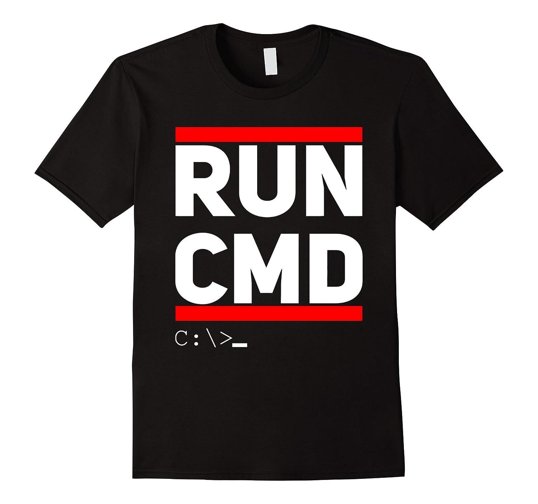 Run CMD T-Shirt Computer Geek Humor-TD