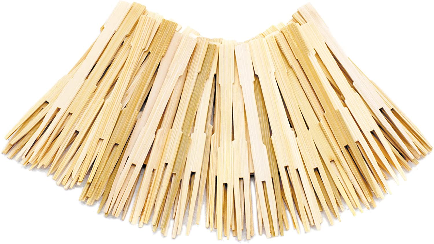 Natural 3 1//2in 70ct Amscan 401251 Bamboo Cocktail Forks