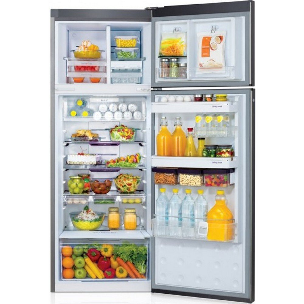 refrigerator double door. godrej 311 l 3 star frost-free double door refrigerator (rt eon pd 3.4, silver atom): amazon.in: home \u0026 kitchen e