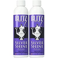 Blitz 20633 Shine Liquid Polish for Sterling Silver-Plated, 8 oz, Pack of 2