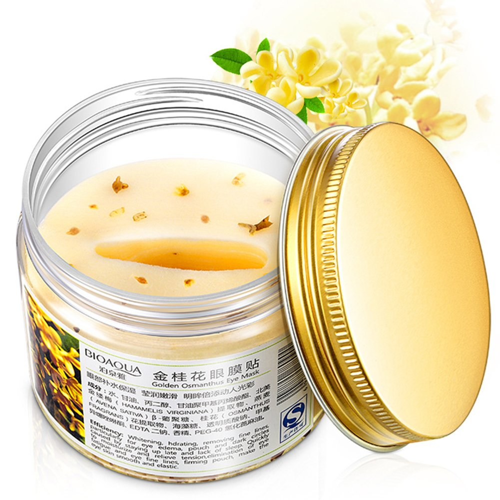 ThinkMax Eye Mask 80 Pcs Gold Osmanthus Mask Anti Wrinkle Remove Dark Circles Diminish Fine Wrinkles Moisturizing Hydrating Face Care Mask