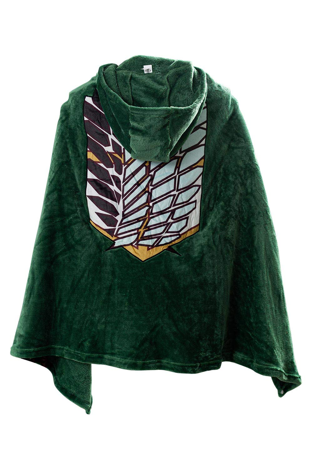 Tifnoyi AOT The Wings of Freedom Flannel Cloak Blanket Halloween Cosplay Costume Cape