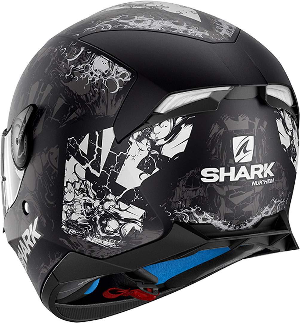 Shark Integralhelm Skwal 2 Nukhem Schwarz Grau Rot KAR Gr/ö/ße S