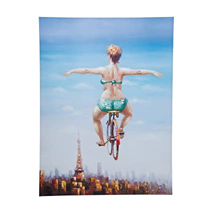 KARE 35202 Touched Bicycle Girl Design 120 x 160 cm: Amazon