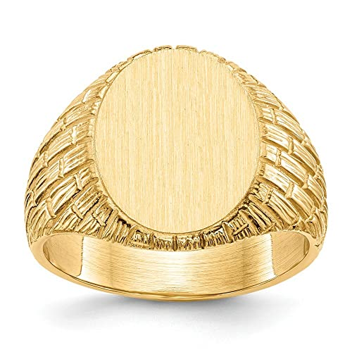 Jewels By Lux 14k Mens Signet Ring