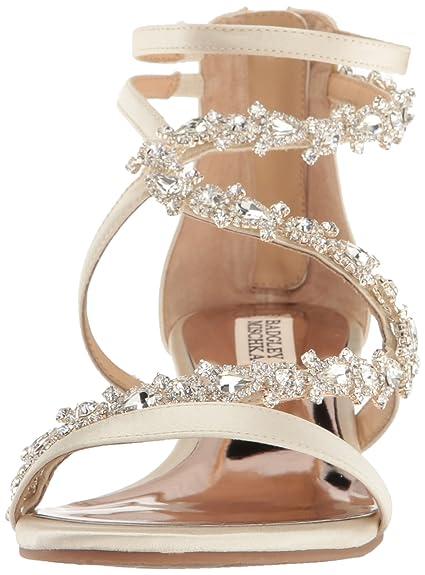 e063aaa3acf Badgley Mischka Women's Belvedere Wedge Sandal Ivory 6.5 M US ...