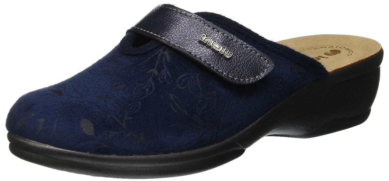 INBLU Betulla, Pantofole Aperte sul Retro Donna Blu (Blu 92_004)