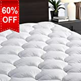 """Amazon Price History for:Overfilled Fitted Mattress Pad Cover(8-21""""Deep Pocket)-Cooling Mattress Topper with Snow Down Alternative Fill(Queen, White)"""