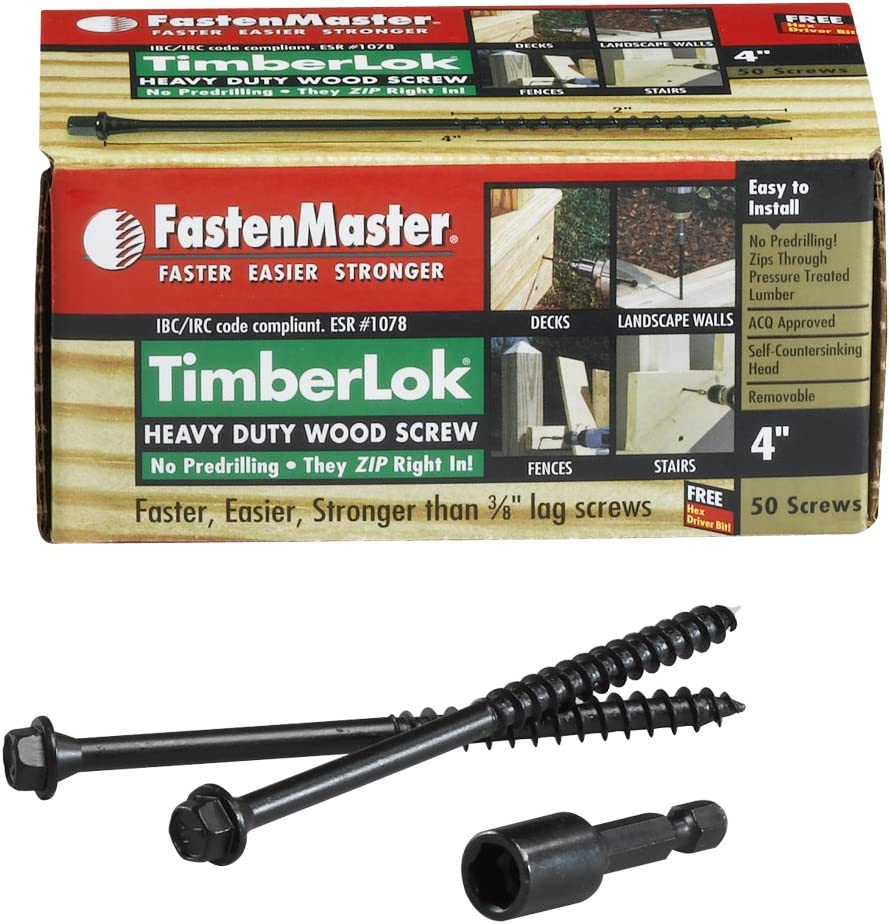 FastenMaster FMTLOK212-12 TimberLOK Heavy-Duty Wood Screw 12-Count New 2-1//2 Inches