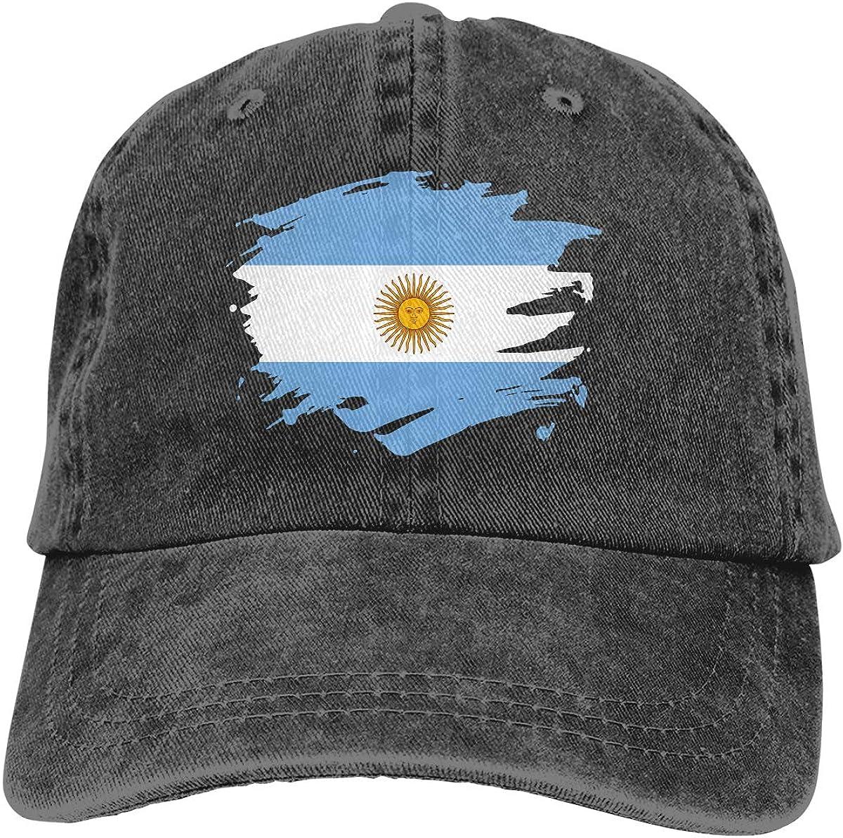 Re/&Tro Men Women Argentina Paint Splatter Flag Adjustable Jeans Baseball Cap Outdoor Sports Hat