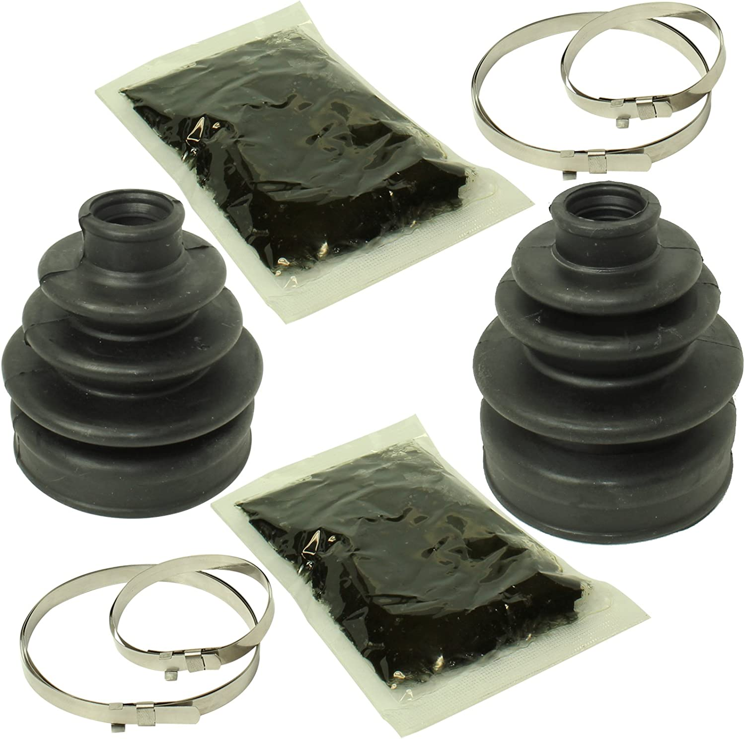 Complete Front /& Rear Inner /& Outer CV Boot Repair Kit Yamaha YFM660 Grizzly 02