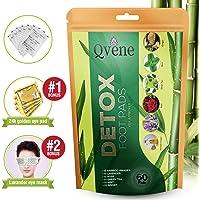 60 Parches 100% Naturales para Eliminar las Toxinas, Aliviar la Fatiga y Quitar el Dolor. Se incluye 4 pares de Parches de Colágeno para Ojos y una Máscara para Dormir de Lavanda