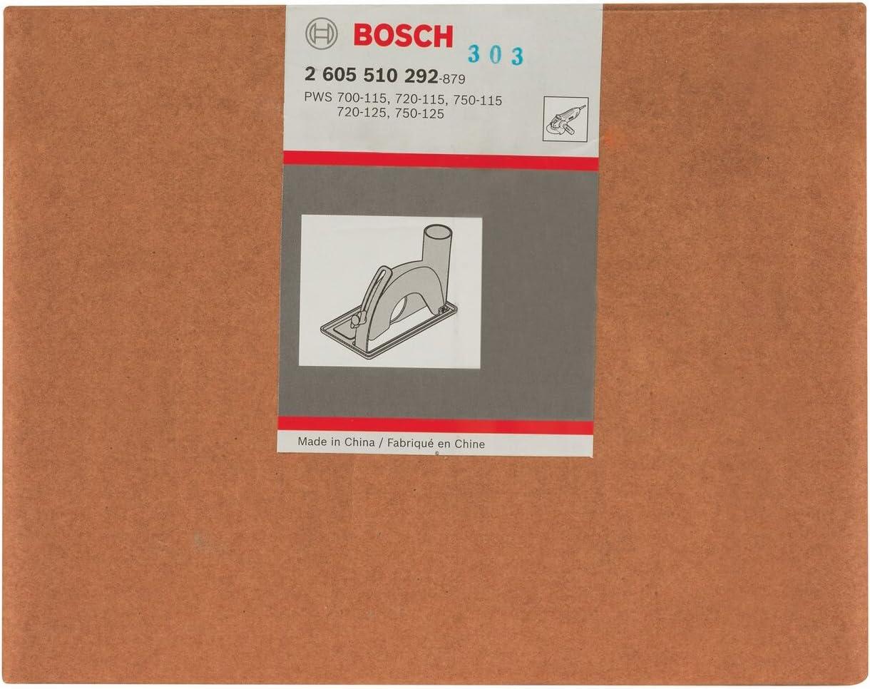 Gu/ía de corte con racor de aspiraci/ón para cortar Bosch 2 605 510 292 pack de 1 115//125 mm