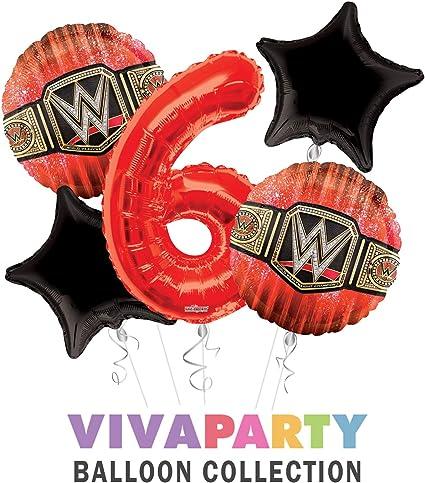 Amazon.com: WWE - Globo de cumpleaños, 5 piezas, 6 ...