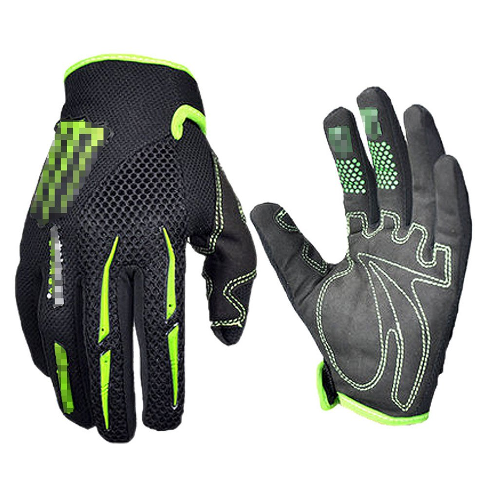 Motorcycle gloves xl - Black Green Gloves Cycling Gloves Mountain Bike Gloves Road Racing Bicycle Gloves Motorcycle Gloves Full Finger