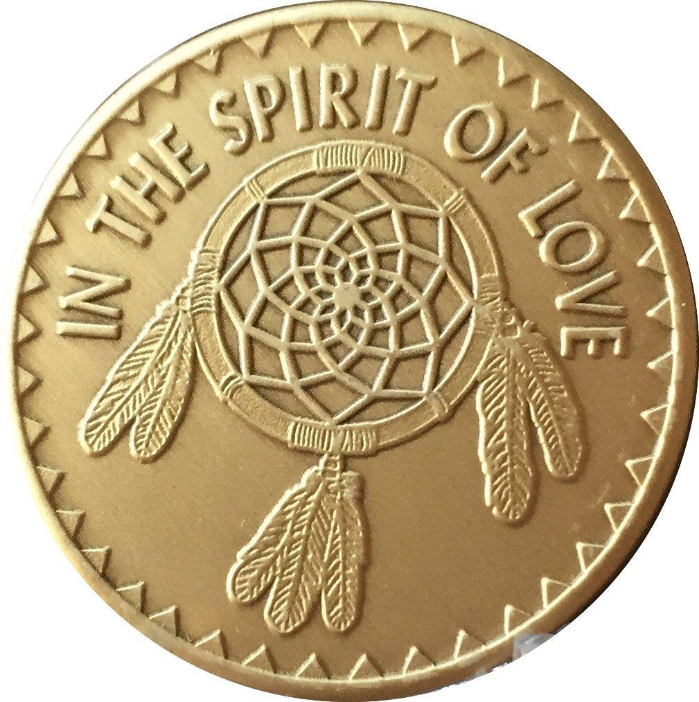 wendells Native American in The Spirit of Love Bulk Lot of 25 Medallions Dream Catcher Chips Bronze Great Spirit Prayer