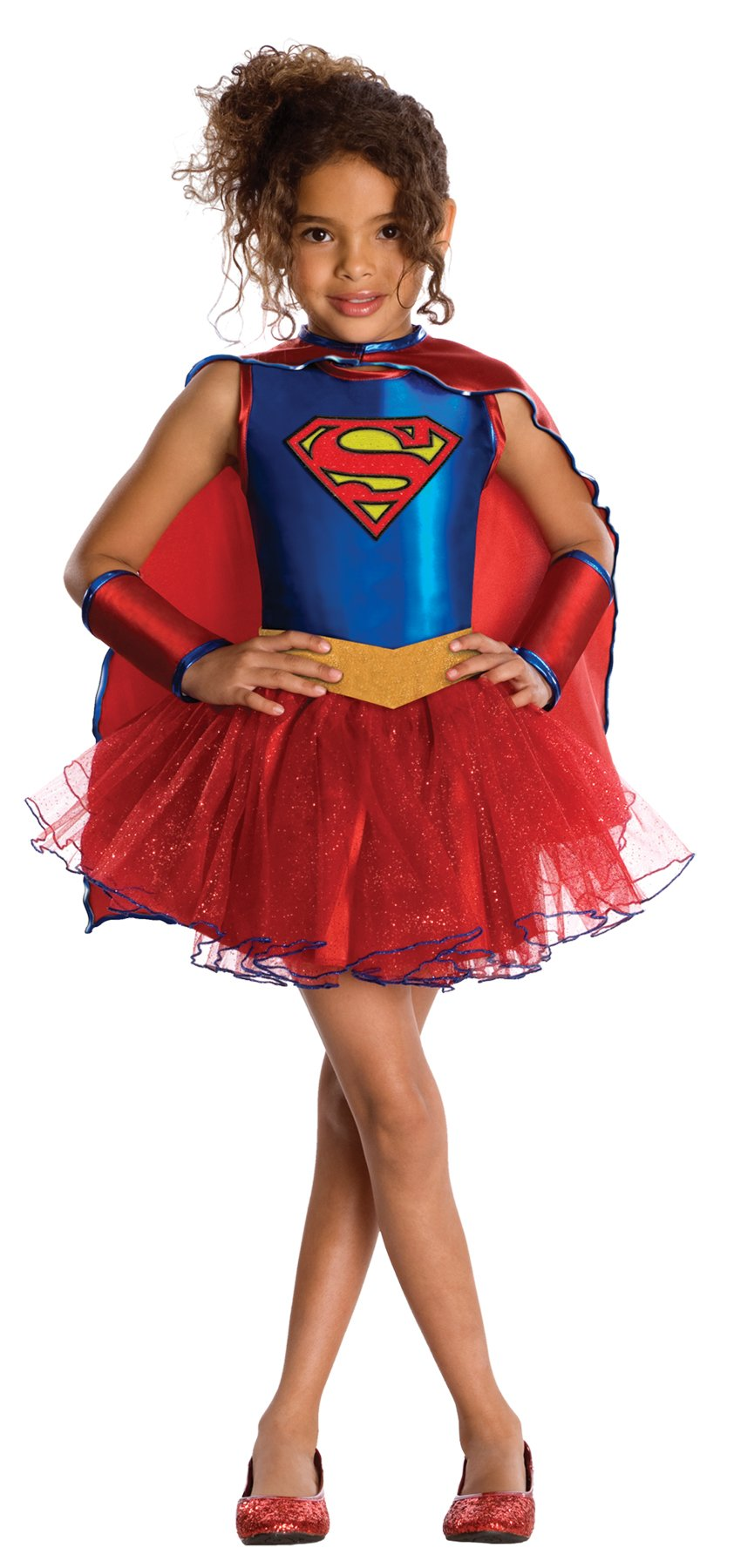 - 715PKv3dllL - Girl's Dc Comics Supergirl Outfit Toddler Child Tutu Dress Halloween Costume